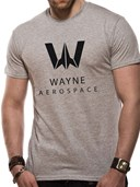 Justice League Movie - Wayne Aerospace Sports Grey T-Shirt (Medium)