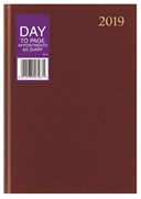 2019 Eason A5 Day to Page Appointments Diary Black