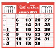 2020 Business Calendar Large Monthly