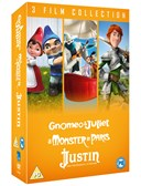 GNOMEO & JULIET:MONSTER IN PARIS:JUSTIN DVD Boxset