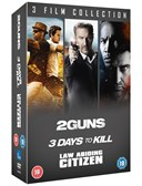 2 GUNS:3 DAYS TO KILL:LAW ABIDING CITIZEN DVD Boxset
