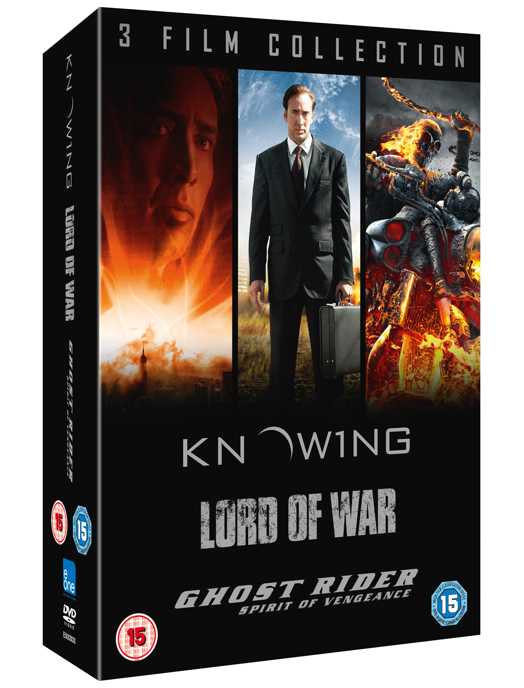 KNOWING:LORD OF WAR: GHOST RIDER DVD Boxset