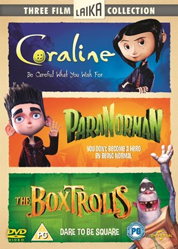 CORALINE/ PARANORMAN/ THE BOXTROLLS DVD