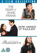 SONG OF BERNADETTE/DIARY OF ANNE/HOW GREEN WAS MY VALLEY DVD