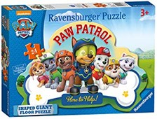 Paw Patrol Shaped Floor Puzzle 24pc