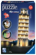 Leaning Tower of Pisa Night Edition 3D Puzzle 216 pc