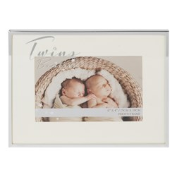 "Silverplated Photo Frame - Twins 6"" x 4"" Widdop"