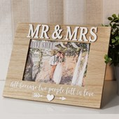"Love Story Photo Frame Mr & Mrs 7"" x 5"""