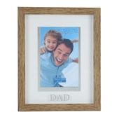 Natural Wood Effect Plastic Frame - 4 x 6 Dad