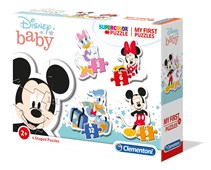Clementoni Disney Baby My First Puzzle  3-6-9-12 pc