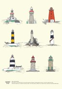 Irish Lighthouses A4 Print