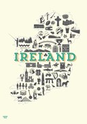 Ireland Icons A4 Print