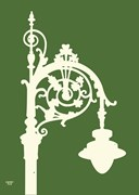 Shamrock Irish Street Lamp A4 Print Green