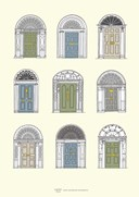 Dublin Georgian Doors A3 Print Pastel Colours