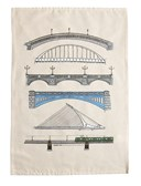 Dublin Bridges over the River Liffey Colour Tea Towel