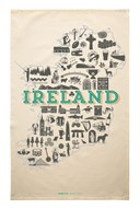 Ireland Icons Tea Towel