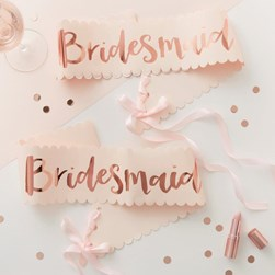 Bridesmaid Sash 2 Pack