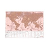 Luckies Rose Gold Scratch Map Travel Edition