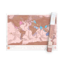 Luckies Rose Gold Scratch Map
