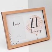 "Luxe Rose Gold Birthday Frame 4"" x 6"" - 21 Widdop"