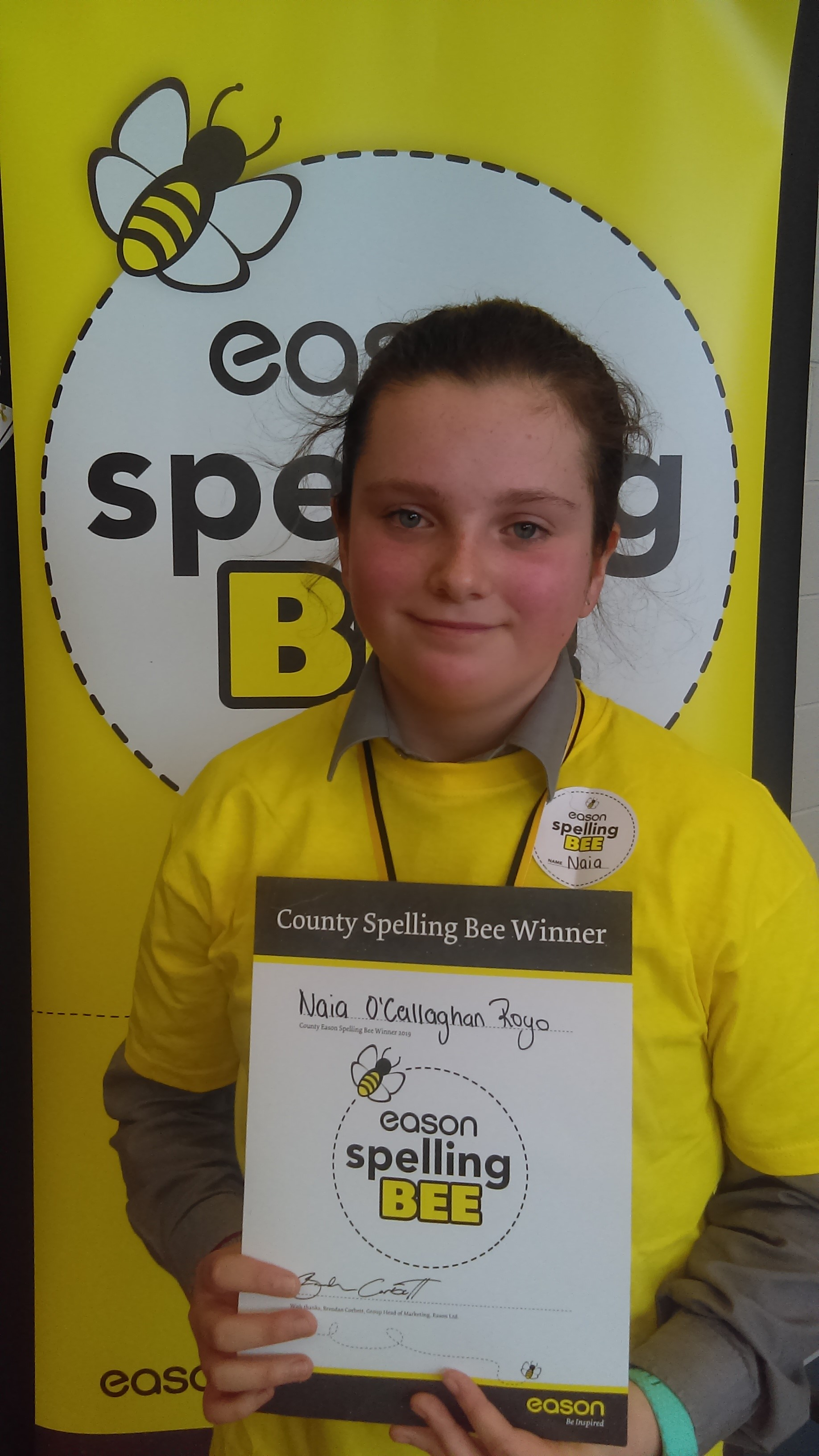 Spelling Bee 2019 - Wicklow Winner Photo