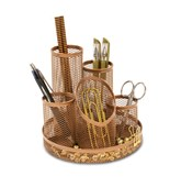 Rosegold Wiremesh 5 Tube Pen Pot