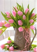 Blank Cards Pink Tulips 8 Pack