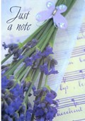Notelet Cards Lavender Bunch 8 Pack