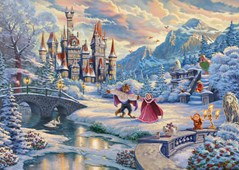 Thomas Kinkade: Disney Beauty and the Beast Winter Enchantment (1000pc)